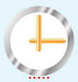 clock icon color fill style vector image vector image