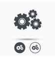 Cogwheels icon Repair service sign vector image vector image