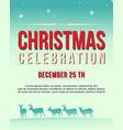collection poster christmas theme vector image