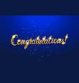 congrats - congratulations banner vector image