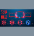 danger warning circle red sign blue and red vector image vector image