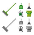 design of cleaning and service sign set of vector image