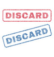 discard textile stamps vector image vector image