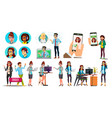 dispatchers client support team characters vector image