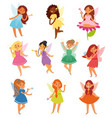 fairy girl magic faery character and vector image