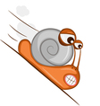 fast snail vector image vector image