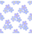 flax flowers seamless pattern cosmetics medical vector image vector image