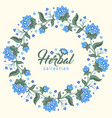 floral round frame jacobean style flowers wreath vector image vector image