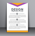 Flyer in the style of the material design vector image vector image