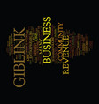 giblink revenue opportunities exposed text vector image vector image