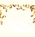 gold shining confetti flying on white holiday vector image vector image