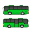 Green Bus Template Set on White Background vector image vector image