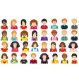 Group of people without faces vector image vector image