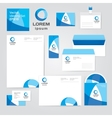 Identity corporate set design template in water vector image