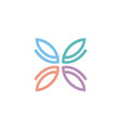 initial e butterfly pattern logo design vector image vector image
