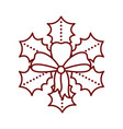 isolated christmas holly leaf icon vector image vector image