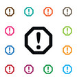 isolated safety icon traffic element can vector image