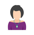 lady wearing necklace vector image