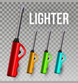 lighter ignite item souvenir gift vector image