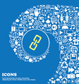 link icon Nice set of beautiful icons twisted vector image vector image