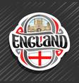 logo for england vector image vector image
