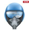 Military flight fighter pilot helmet vector image vector image