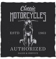motorcycle t-shirt label design vector image