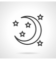 Night symbol black line icon vector image vector image