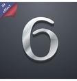number six icon symbol 3D style Trendy modern vector image