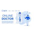 online doctor consultation via mobile application vector image