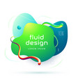 organic design liquid color abstract geometric vector image vector image