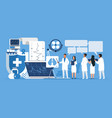 pharmacy concept trendy cartoon characters vector image