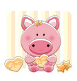 pig love vector image vector image