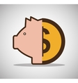 piggy money currency cash icon vector image vector image