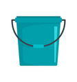 plastic bucket icon flat style vector image vector image