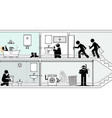 quick emergency response to flooded bathroom vector image vector image