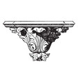 renaissance console furniture vintage engraving vector image vector image