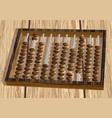retro abacus on table vector image vector image