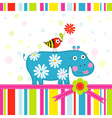 Scrapbook Animals Greeting Card vector image vector image