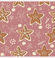 seamless winter pattern with hand drawn vector image vector image