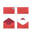 set envelopes vector image vector image