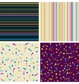Set of four seamless abstract background vector image vector image