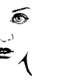 Silhouette of a womans face vector | Price: 1 Credit (USD $1)