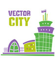 simple fantastic house city lettering use it vector image vector image