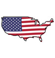 simplified map - united states of america outline vector image
