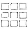 sketch hand drawn frame set vector image