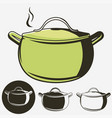 soup pan pot of hot icon isolated vector image