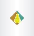 stylized pear logo icon vector image vector image