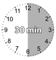 Thirty minutes vector image