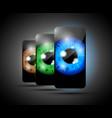three eyeball phones vector image vector image